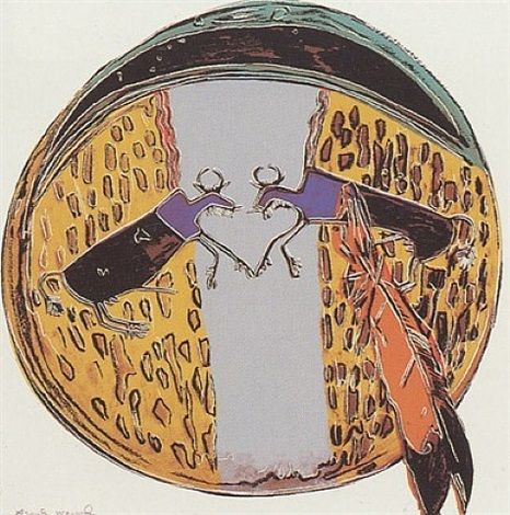 cowboys and indians - plains indian shield [ii.382] by andy warhol